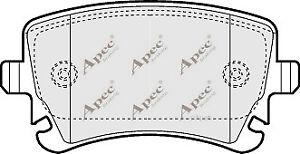 1x-OE-Quality-Brand-New-Apec-Brake-Pad-Set-PAD1298-12-Month-Warranty