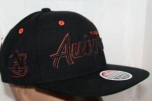 Auburn-Tigers-Zephyr-NCAA-Headliner-Black-Snapback-Cap-Hat-30-00-NEW
