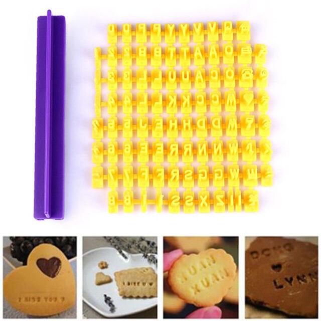 Alphabet Letter Number Biscuit Cookie Cutter Press Stamp Embosser Cake Mould 0cn
