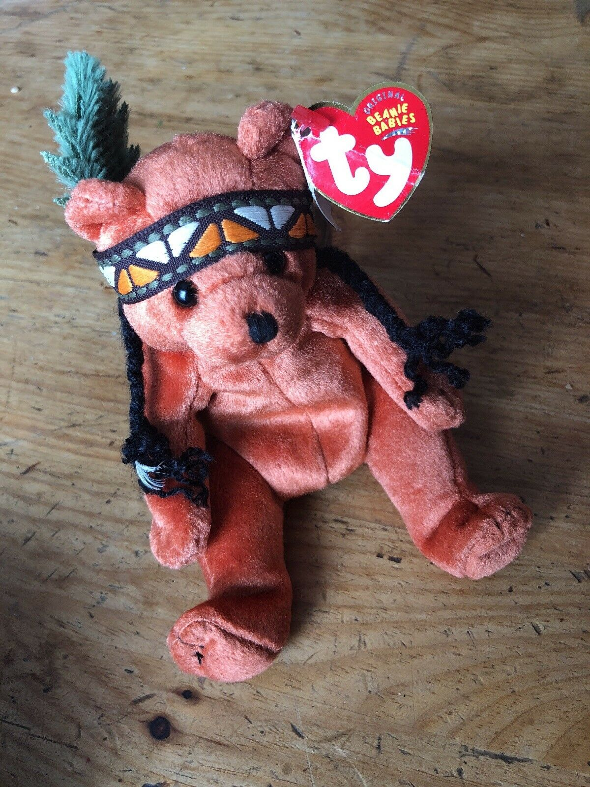 838c4f91a99 TY Beanie Baby - Little Feather The Bear for sale online