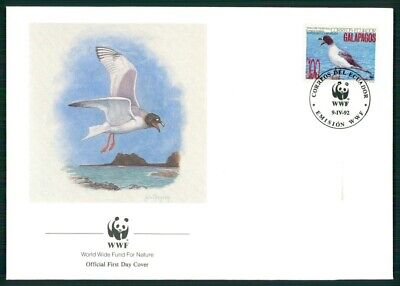 Frank Galapagos Schmuck-fdc 1992 Wwf Fauna Tiere Animals MÖwe Gull El91