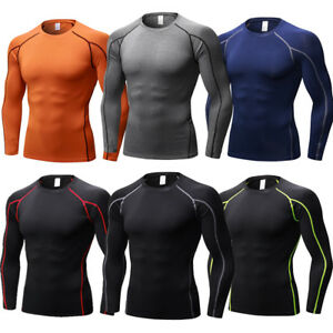 Men-039-s-Compression-Wear-Athletic-T-shirts-Long-Sleeve-Base-Layers-Tight-Quick-dry