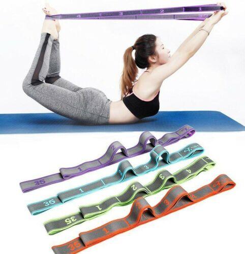 Yoga Pull Strap Belt Elastic Stretching Band Fitness Exercise Resistance Band