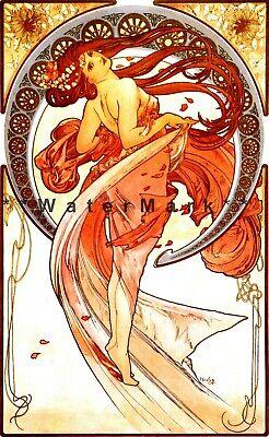 Dance Arts 1898 Vintage Poster Print Retro Style Art Nouveau Mucha Ebay