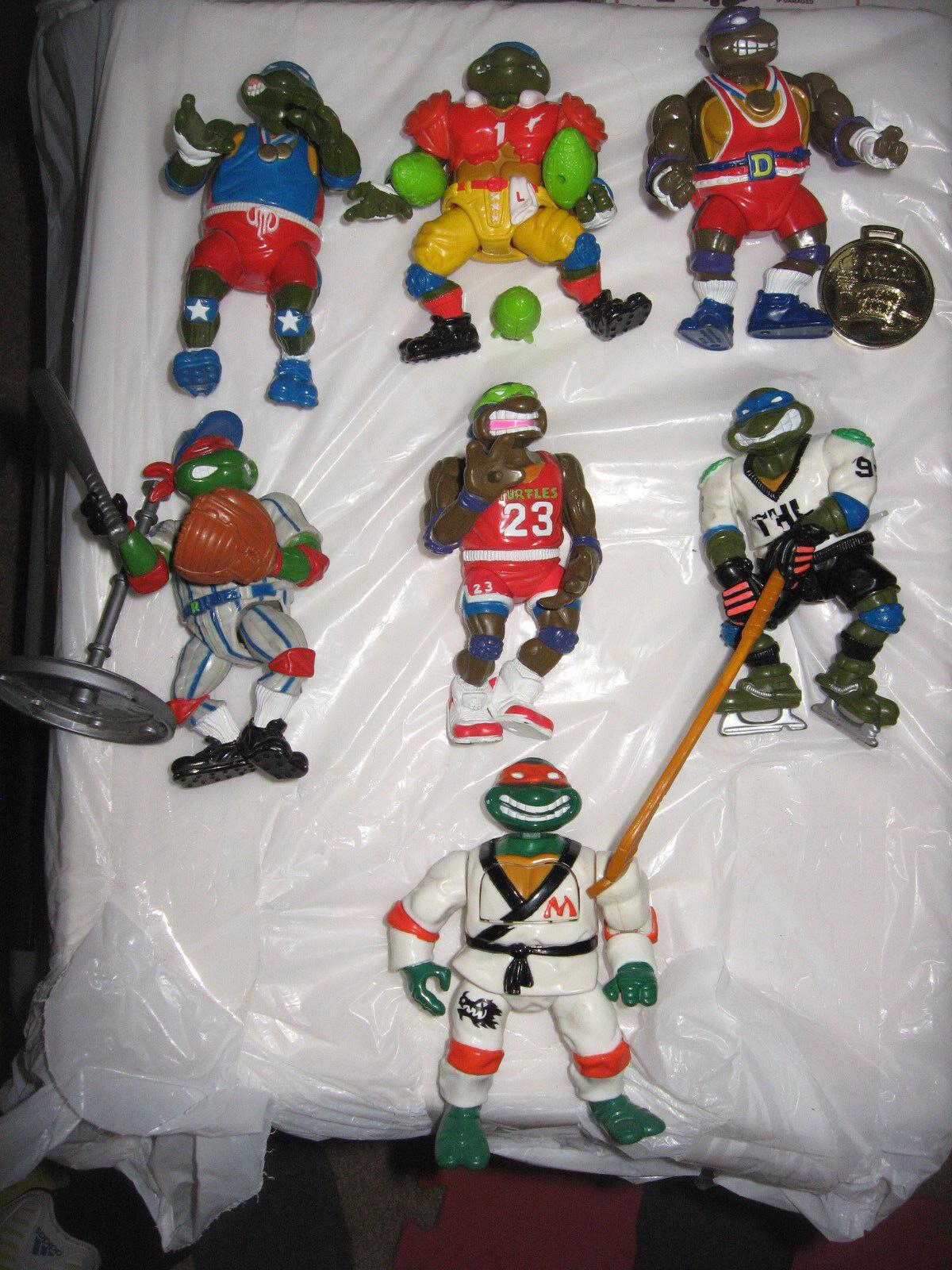 Teenage Mutant Ninja Turtles-Lot of 1991-92 Sports-Olympics Turtles.