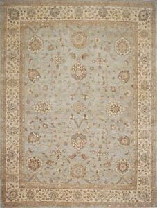 Traditional-Hand-Knotted-Modern-Chobi-Area-Rug-Grey-Beige-Persian-Rugs-9-x-12