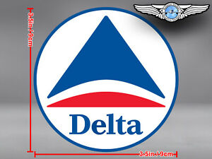 DELTA AIR LINES AIRLINES OLD ROUND LOGO DECAL / STICKER