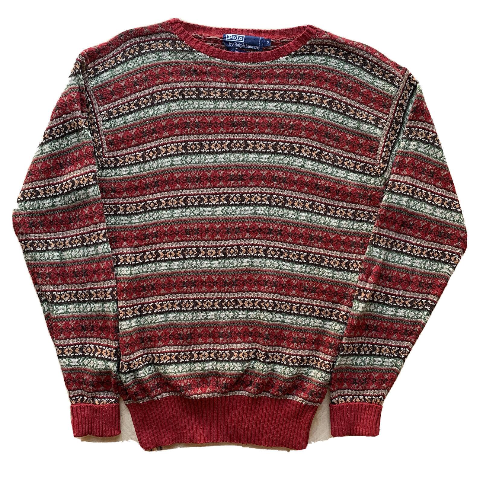 Polo Ralph Lauren Knit Sweater Small Multicolor V… - image 1