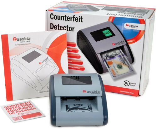 Details about  /Counterfeit Money Detector Machine Automatic Paper Bills Checker No ID Cards