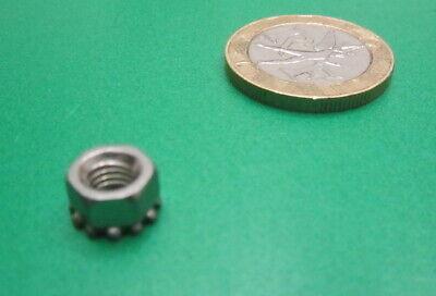 Zinc Class 8 Tooth Washer Hex Nut RH M5 x .08 x 4 mm Height 100 Pcs