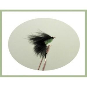 Size 10 6 Pack White green Fritz MINI Cats Whiskers Trout Flies Fishing flies
