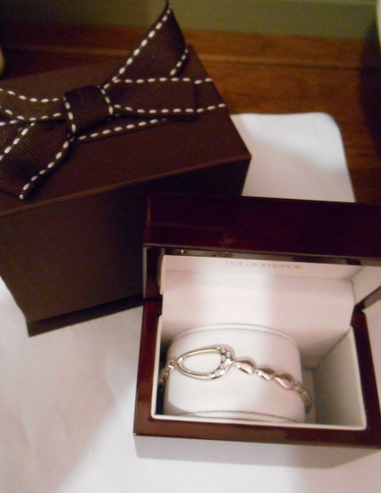 RARO Diamante Puro caldo LAGUNA Pebble Diamante Diamante Diamante braccialetto d'argentoo 2d955e