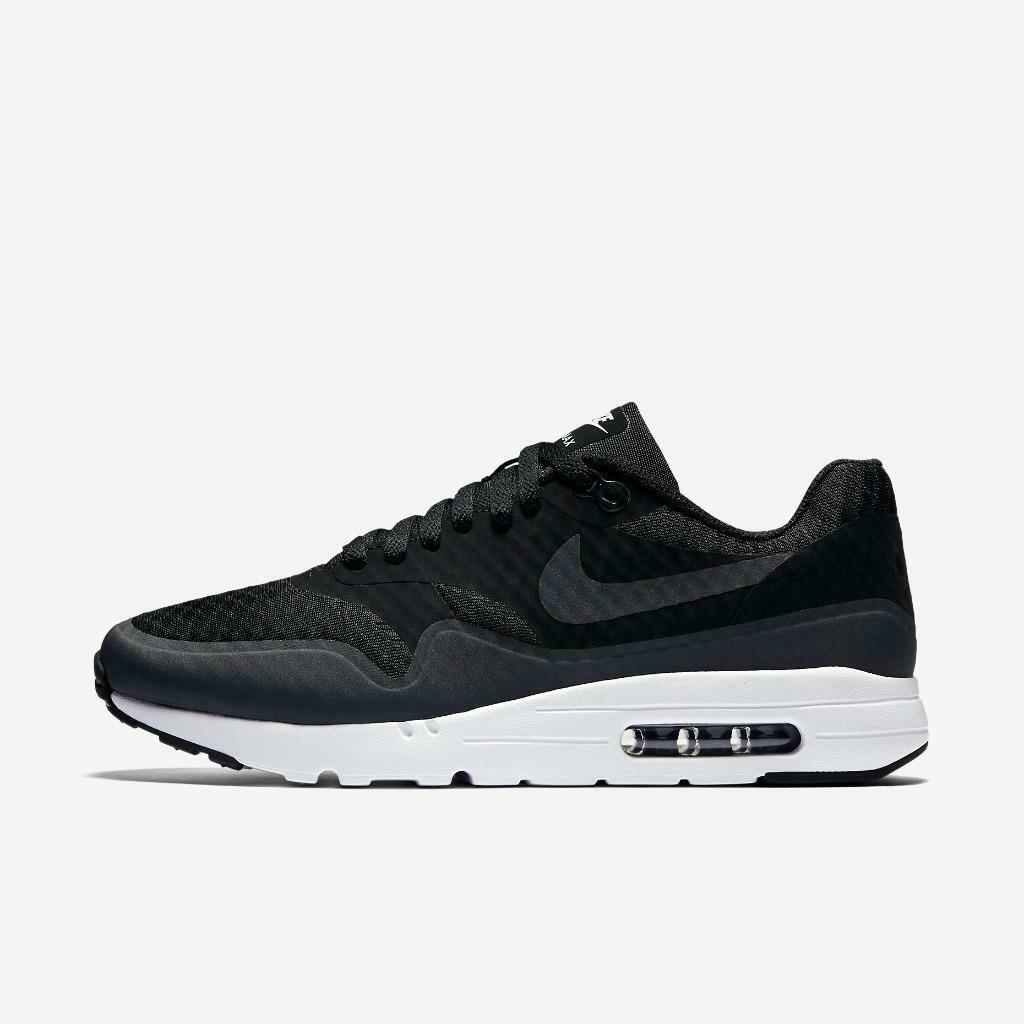 NIKE AIR MAX 1 ULTRA ESSENTIAL 819476 004 BLACK/ANTHRACITE GREY/WHITE - RUNNING