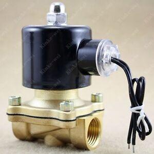 24v-1-2-034-DC-Electric-Solenoid-Valve-Water-Gas-Diesel
