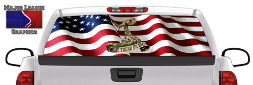 Don/'t Tread on Me American Flag BACK Window Graphic Perforated Decal Truck SUV