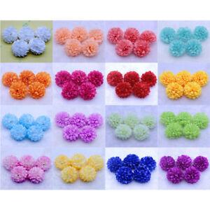 100pc-Daisy-Artificial-Fake-flower-Silk-Spherical-Heads-Bulk-Wedding-Party-Decor