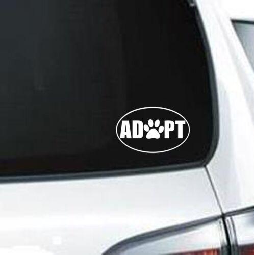 Adoption circle vinyl decal for car truck A231 Dog Paw Adopt