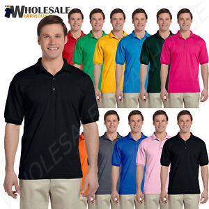 Details about Gildan Mens Polo Shirt Moisture Wicking DryBlend Jersey S-XL R-G880
