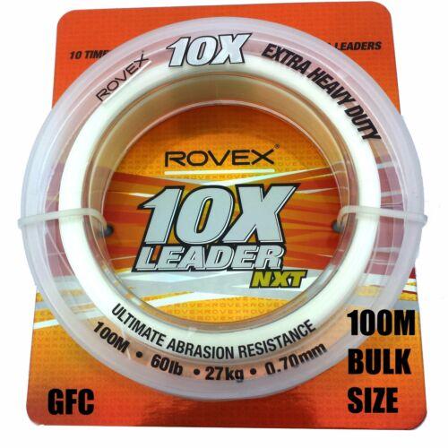 ROVEX 10X SHOCKLEADER ALL SIZES 100M BULK SPOOL