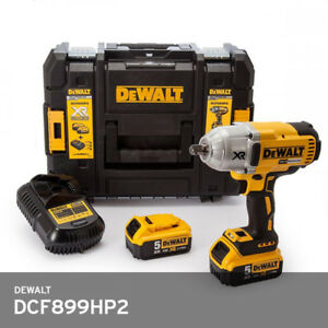Image Is Loading Dewalt Dcf899 Impact Wrench 18v 2x5 0ah Charger