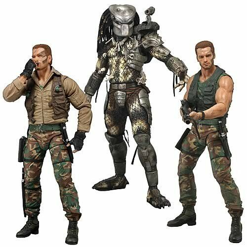 NECA Series 8 Original Predator 25th Anniversary 3 Action Figure Set Dutch Mask
