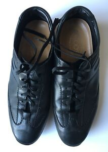 TOD-039-S-Black-Lace-Loafers-Casual-Fashion-Sneakers-Shoes-US-9-MINT