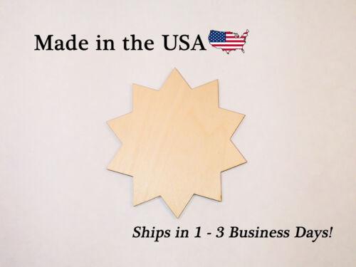 Shape,MM1018 Scrapbooking 10 point Star Wood Silhouette Nursery Craft Supply