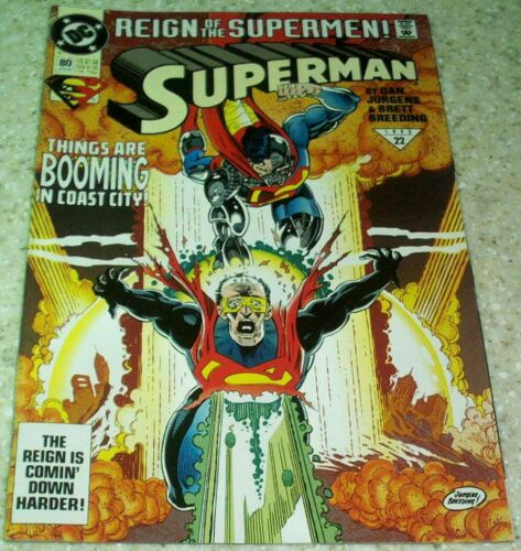 NM 9.4 DC 1993 Reign of the Supermen Superman 80, ONLY $2
