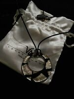 Nwt-venetiaurum Black & Silver Italian Glass Pendant