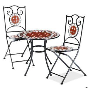 Set Tavolo + Sedie Pieghevoli Mosaico Arredo Esterno ...