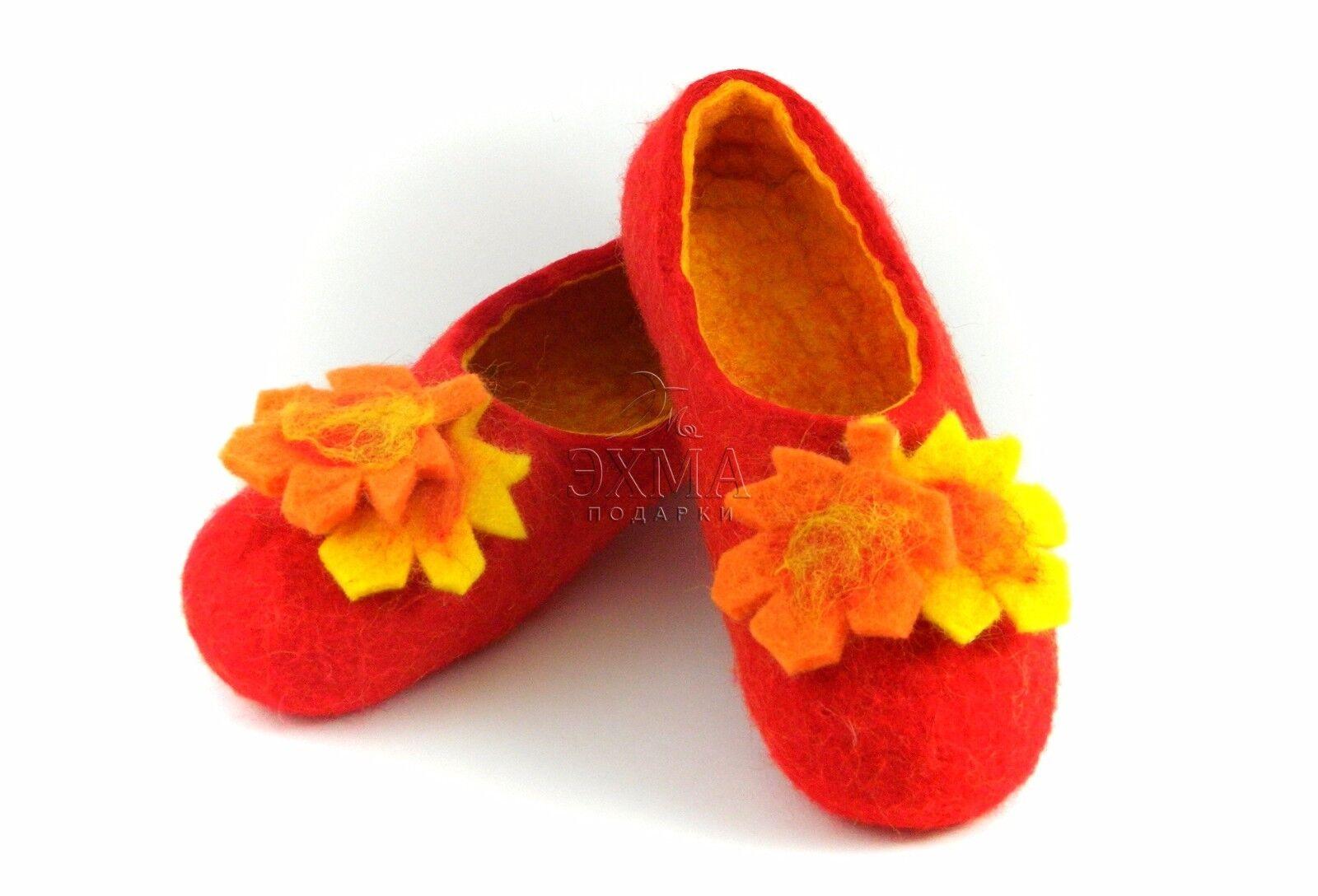 Russian Slippers Leaves Wool 100% Handmade Valenki Ehma Brand Autumn Leaves Slippers bf5075
