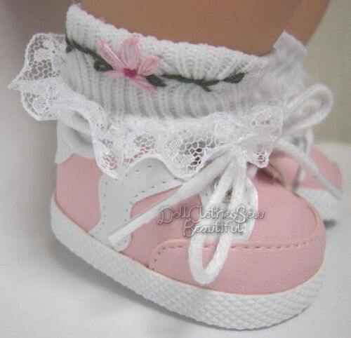 Twins Doll Clothes TOP QUALITY Pink Gym Shoes Sneakers For Bitty Baby