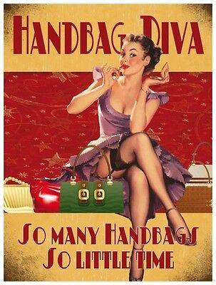 Handbag Diva small steel sign 200mm x 150mm og
