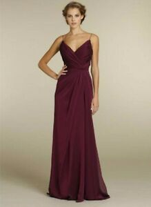 Details About Jim Hjelm By Jlm Couture Occasions Jh5228 Womens Merlot Bridesmaid Dress Gown 2