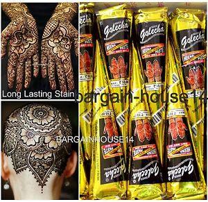 037f380abfed7 FRESH!! BOX of 2 Cones GOLECHA BLACK Henna Mehendi Cones Bridal ...
