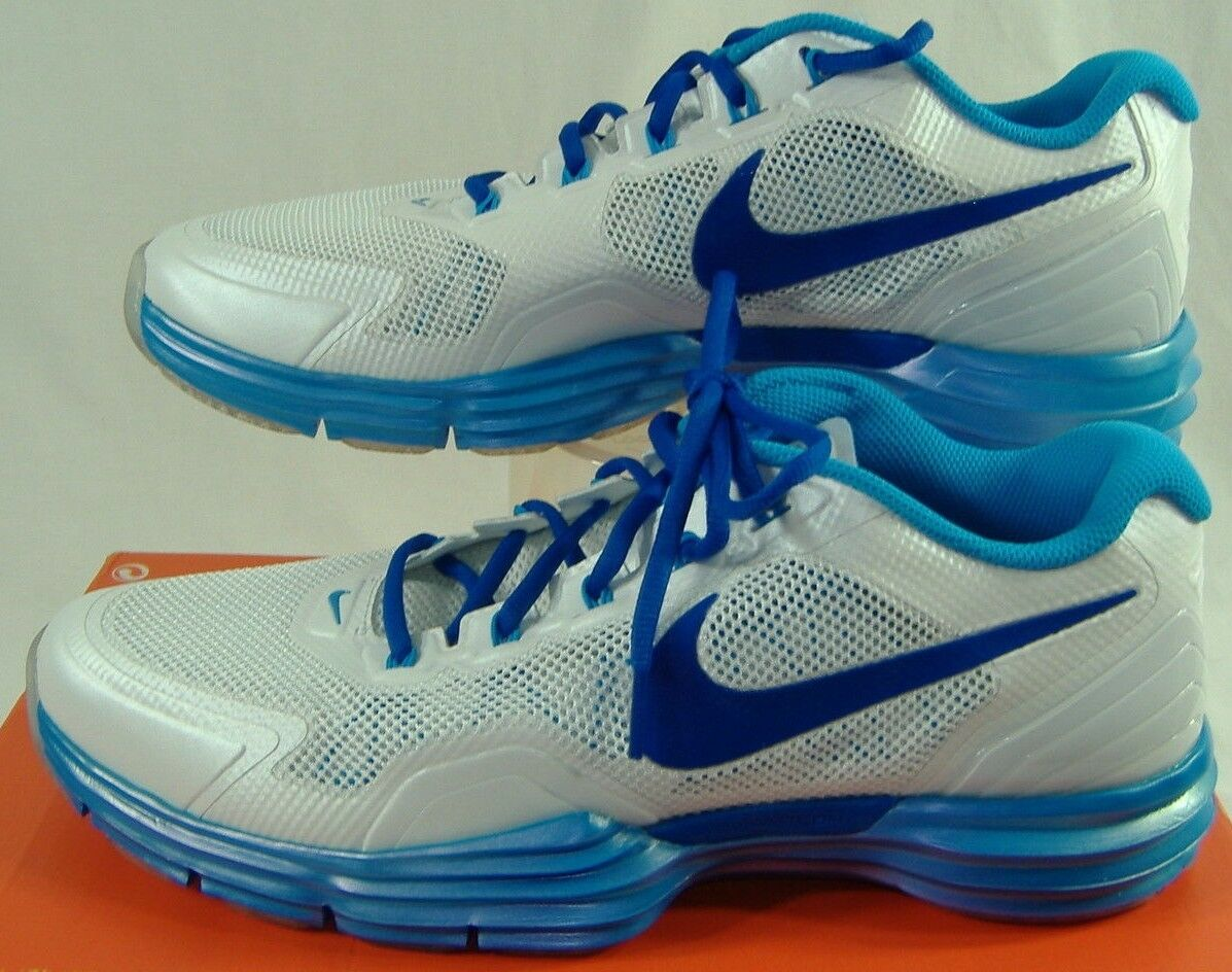 New Mens 11.5 NIKE Lunar Trainer TR1 White bluee Dynamic Run shoes 145 531975-103