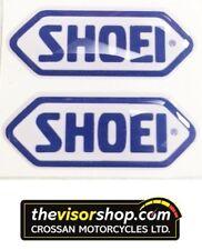 2 x Gel Type Non Fade Pair SHOEI Blue Motorcycle Helmet Visor sticker