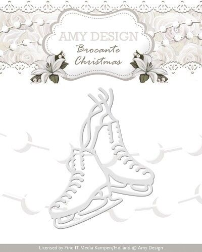 add10036 Stanzschablone-patines-Brocante Christmas-Amy Design