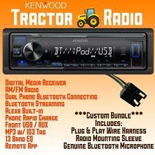 Plug Amp Play Tractor Radio Bundle John Deere Jcb Mccormick Bluetooth Usb Aux