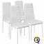 miniatura 13 - Set 4 sedia tavolo per sala da pranzo cucina eleganti moderne robusto ecopelle