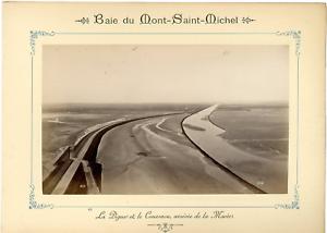 ND-France-Baie-du-Mont-Saint-Michel-La-Digue-et-le-Couesnou-Vintage-albumen