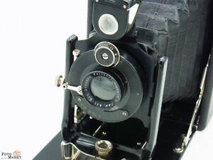ICA-Klappkamera-Sirene-135-9x12cm-Objektiv-Periscop-Alpha-1-11-Holzrahmen-rare