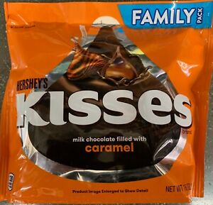 NEW-HERSHEY-039-S-KISSES-MILK-CHOCOLATE-FILLED-WITH-CARAMEL-FAMILY-PACK-16-OZ-BAG