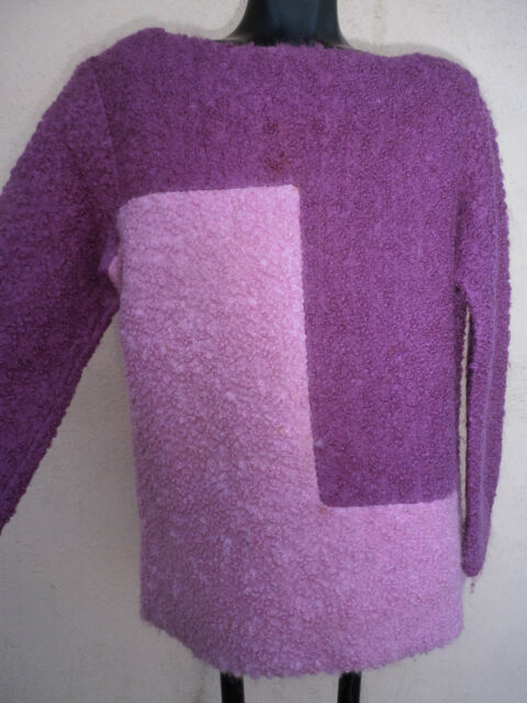 5a9821b4e2 mod 60s lavender sweater Vintage ULLA By Vicki Cooper COLOR BLOCK POODLE  WOOL