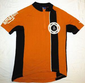 Woolistic-AMAZON-ORANGE-WOOL-Cycling-Jersey-MED-Merino-Sewn-Logos-bike-rare-M