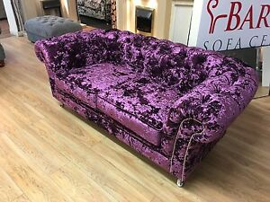 Chesterfield Sofa In Purple Velvet Ebay