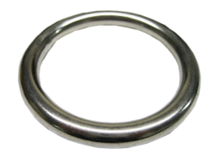 WEBBING ROPE MOORING 10mm x 50mm marine boat STAINLESS STEEL ROUND O RING