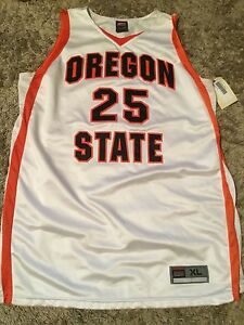 OREGON STATE GAME WORN USED BASKETBALL JERSEY #25 SIZE XL HOUSTON FROM 2005