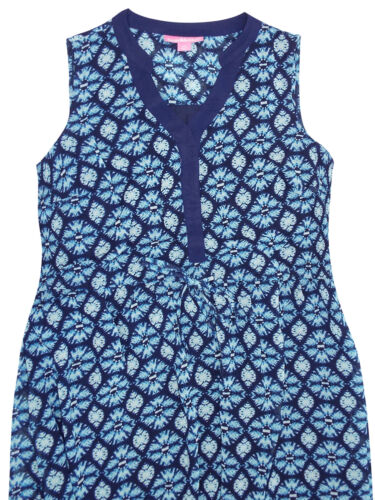 NEW ex Woman Within Y-Neck BLUE Lined Georgette Dress size 16 18 20 26 32 34