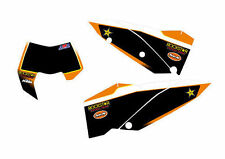 KTM GRAFICHE STICKERS TABELLE ROCKSTAR NERE  EXC 08/11 SX 07/10 CRYSTAL